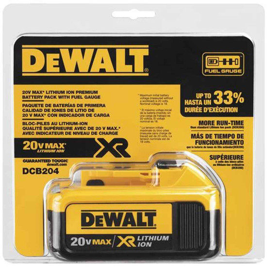 Dewalt DCB204 Battery in Package