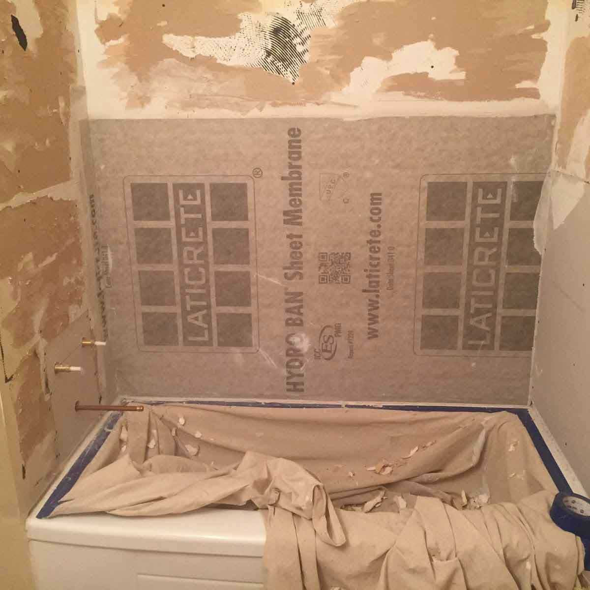 Laticrete Hydro Ban Sheet bath