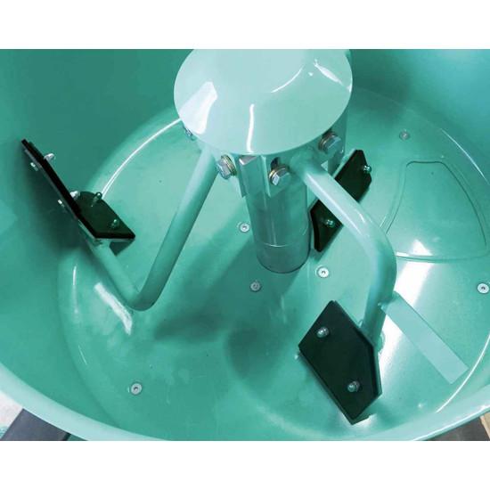 Imer Mortarman 120 Optional Rubber Paddle Kit inside mixer. 1107618