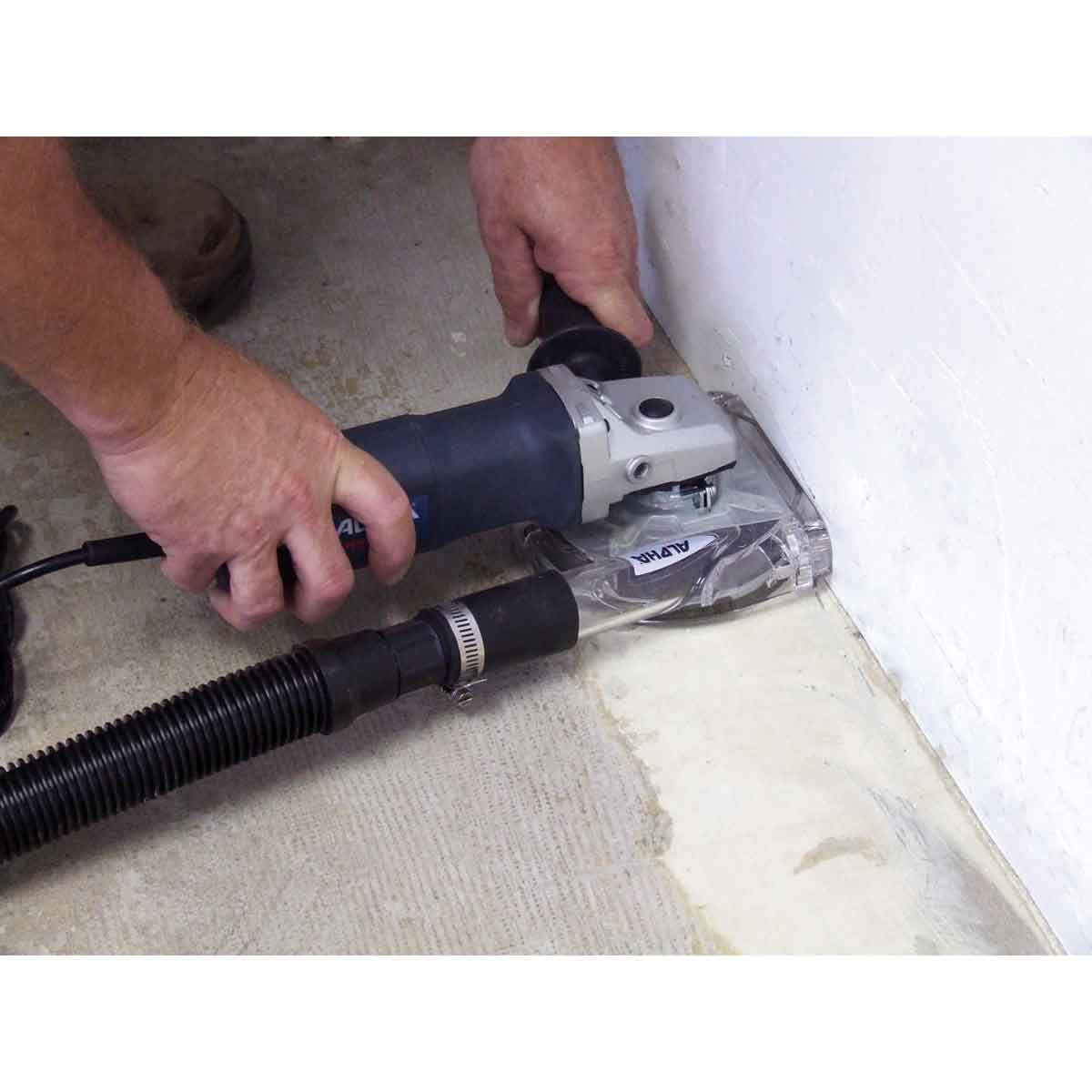 Angle Grinder with Ecoguard Grinding Concrete Edges