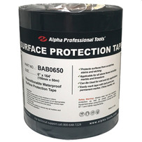 """BAB0650 Alpha Surface Preparation Tape 6"""" x 164 ft. mark the cut line on the stone surface"""