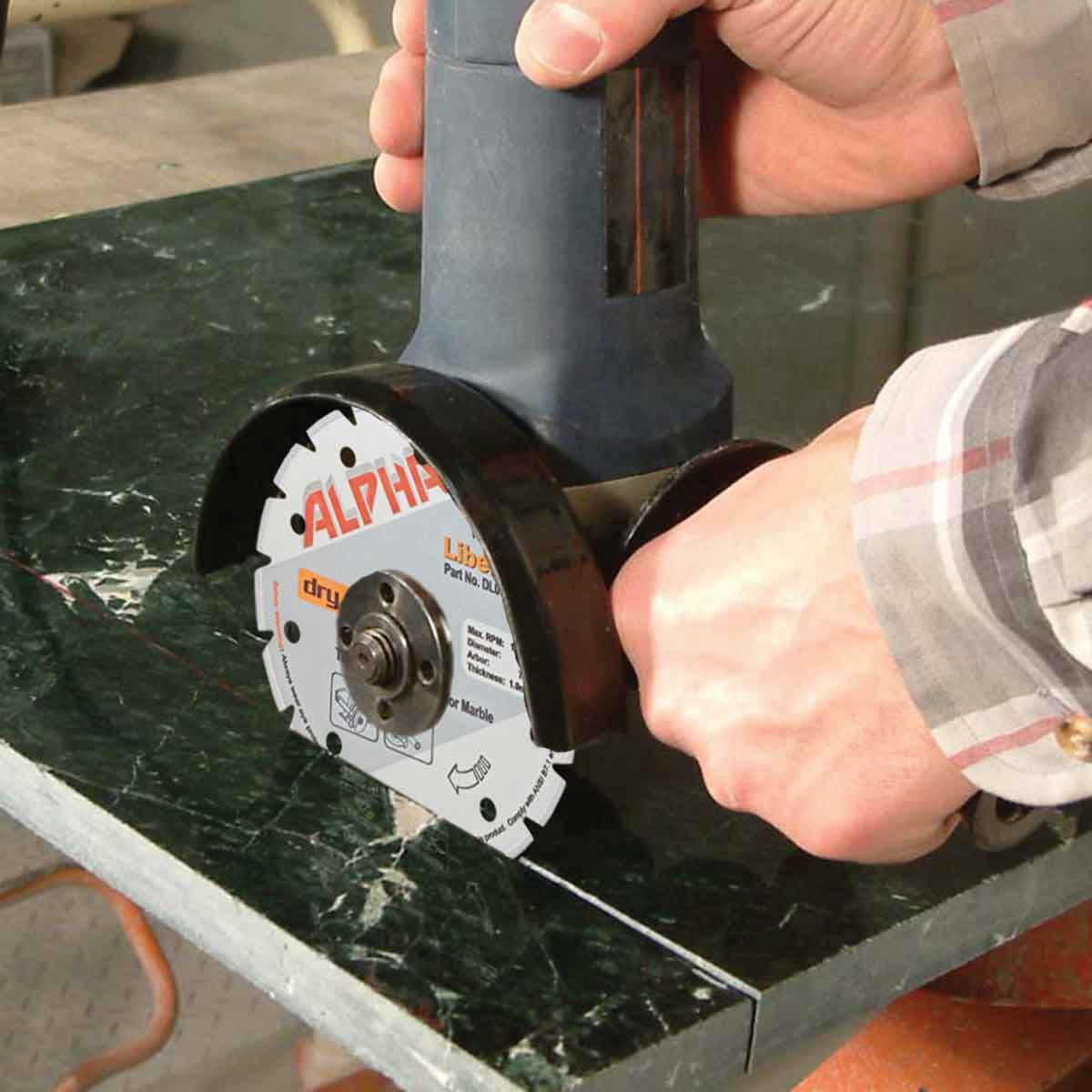cutting with alpha libero dry marble diamond blade