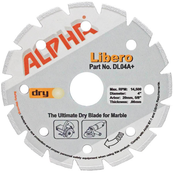Alpha Libero Dry Marble Diamond Blade