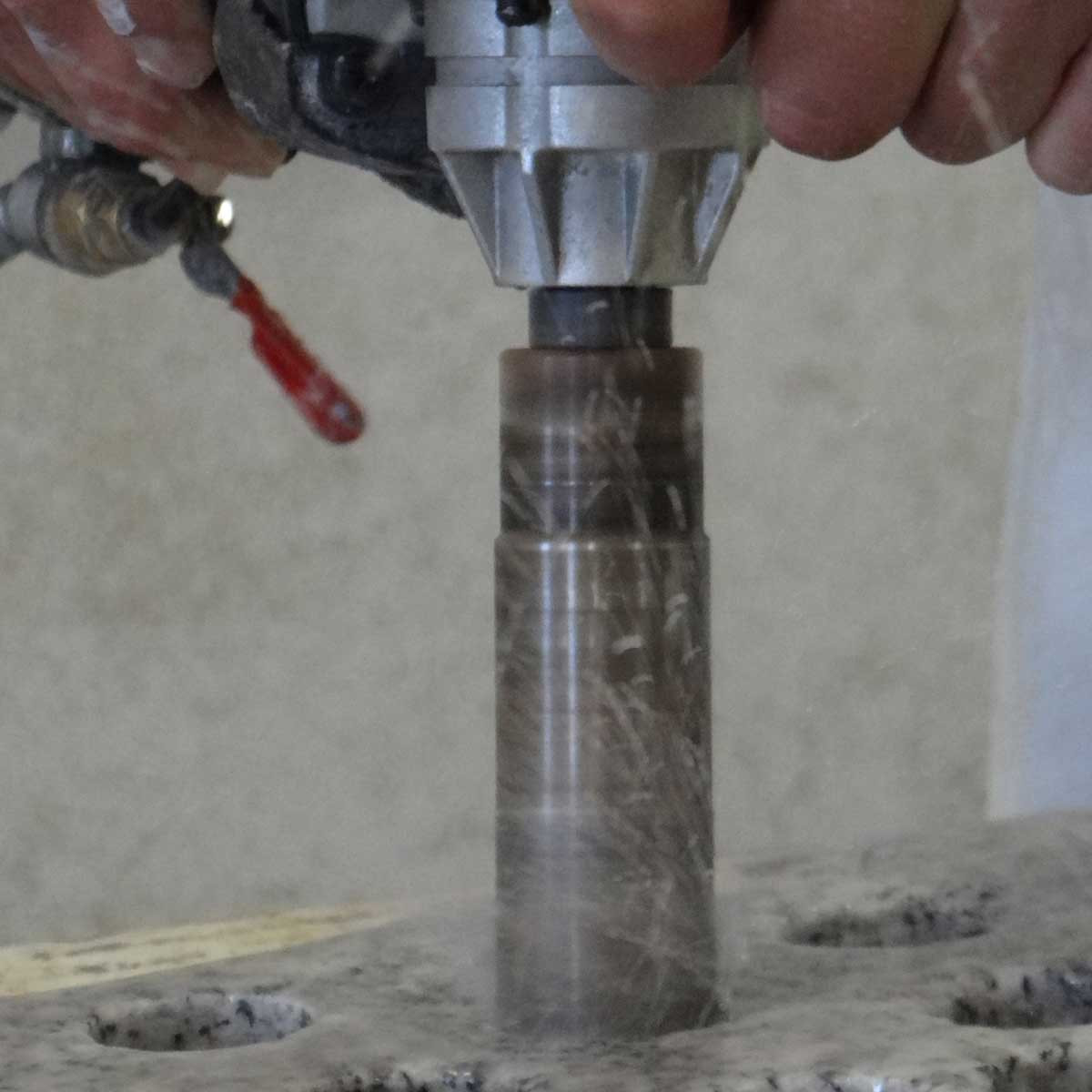 dry core bit used in fab shop