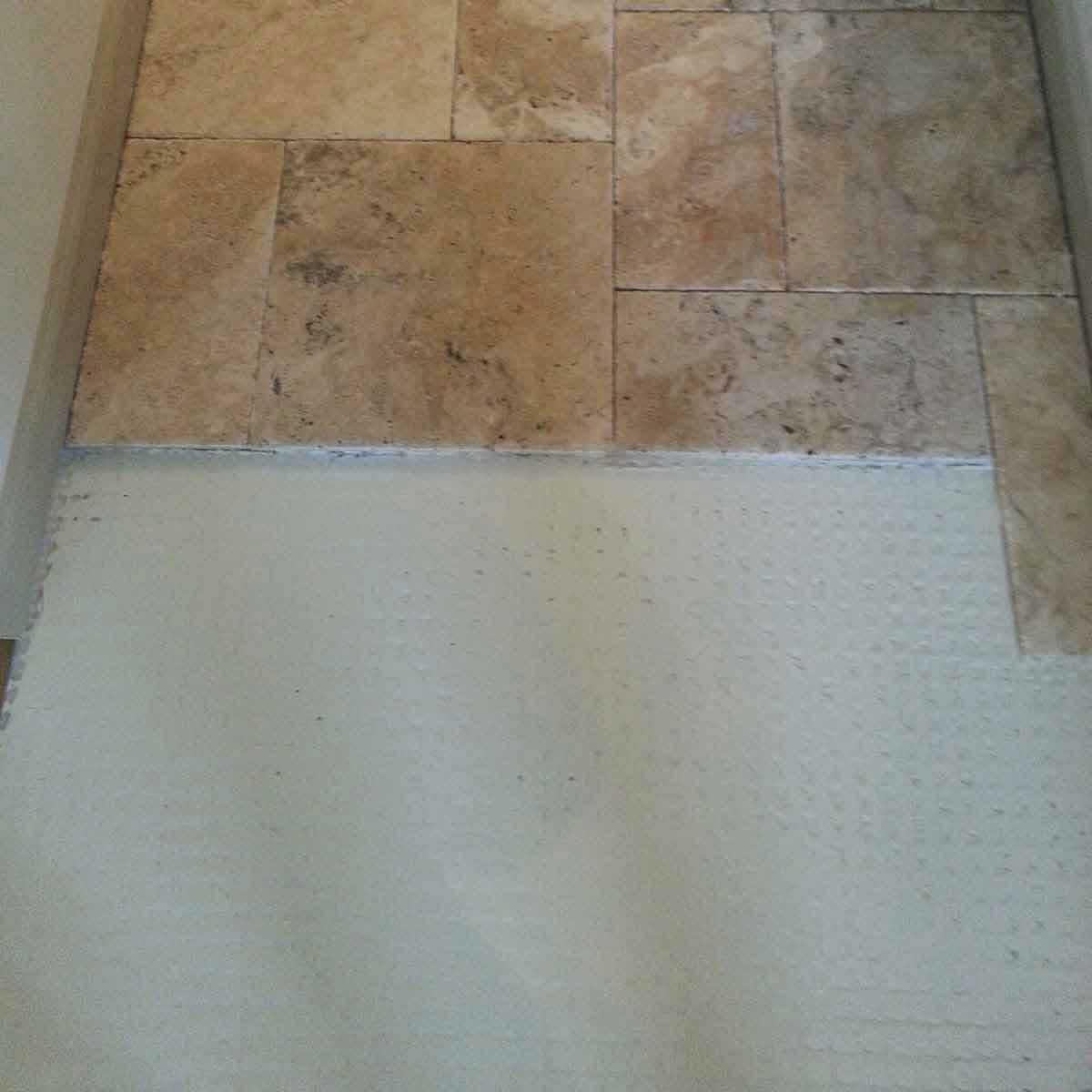 Strata Mat Uncoupling tiling