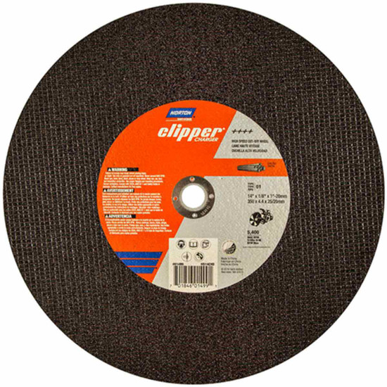 Norton Clipper cut-off saw abrasive wheels for ductile material