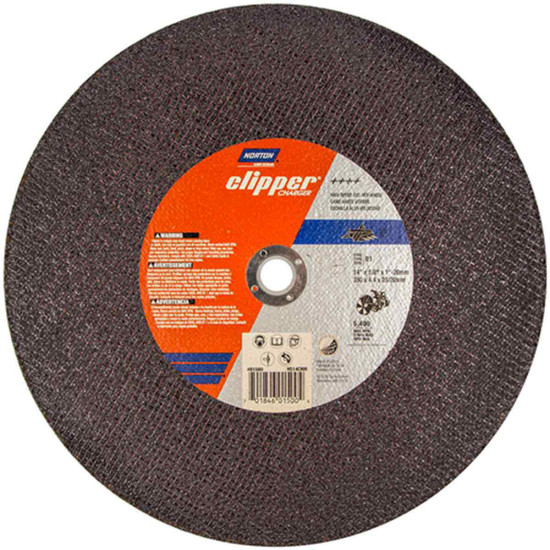 Norton Clipper Charger abrasive blade for metal and stainless steel