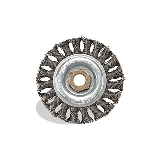 Pearl Abrasive 4 inch Tempered Wire Knot Wheel
