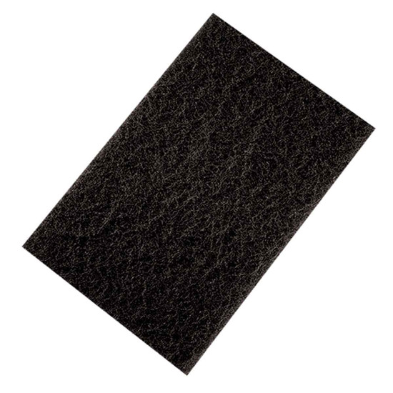 Pearl Abrasive Black Coarse Ultra Prep Non-Woven Hand Pad for Stainless Steel