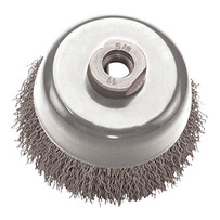 Pearl Abrasive Crimped Cup Tempered Wire Wheel