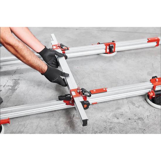 Adjustable cross-beams for large panel tile