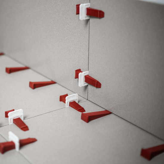 reusable wedges T-Lock spacers tile leveling system