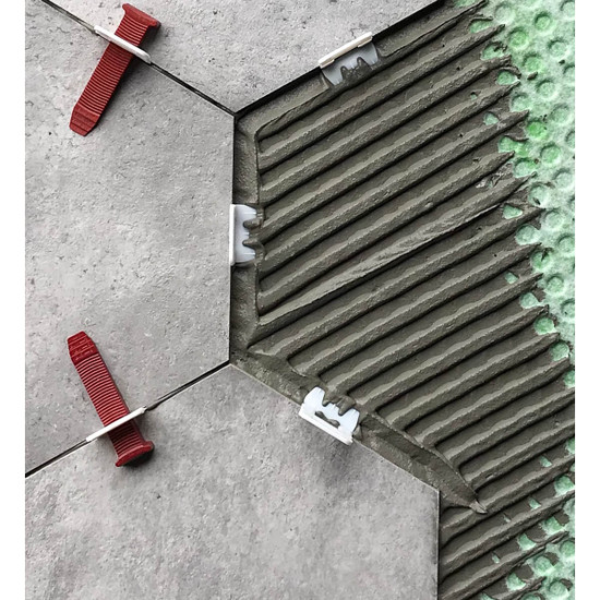 prevents tiles from warping after installation from unevenly cured thin-set
