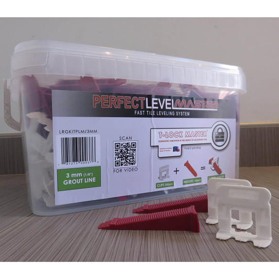 Perfect Level Master Small & Large 1/8 in. floor level Kits
