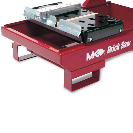 mk diamond masonry saw with slide tray