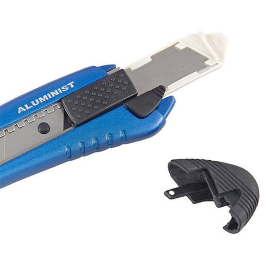 AC-700B Tajima Rock Hard Aluminist Utility Knife Heavy-gauge stainless steel blade sleeves for safety and superior control, Includes 3 Rock Hard blades