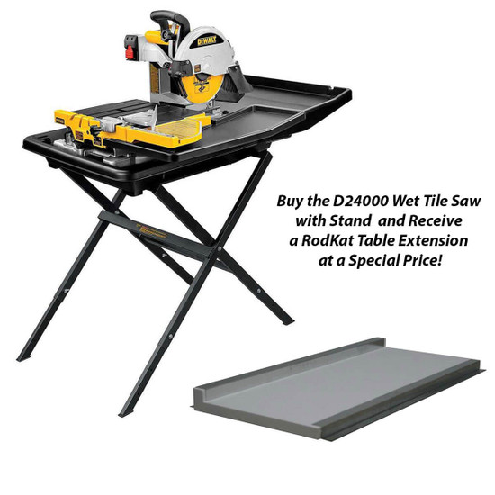 Dewalt D24000 tile saw with RodKat table extension