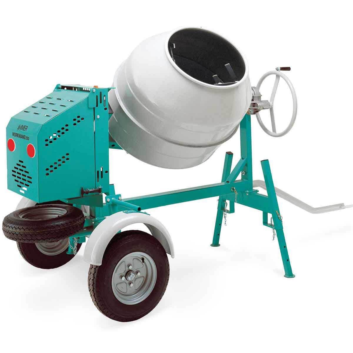 Cement Mixer Blades : Imer workman ii series concrete mixer contractors direct
