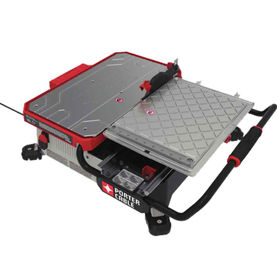 Porter Cable 7 inch Table Top Wet Tile Saw corner view
