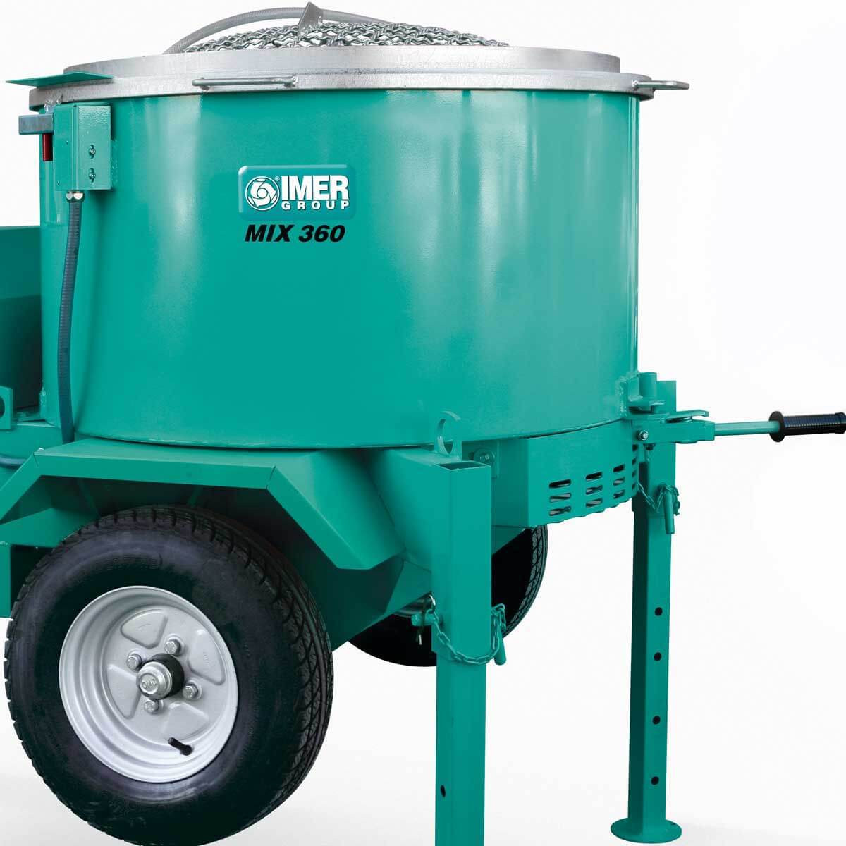Imer Mortarman 360 Mixer discharge