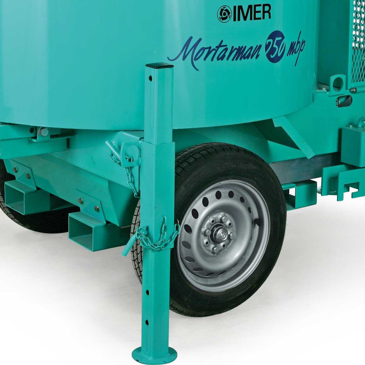 Imer Mortarman 750 Mixer wheels