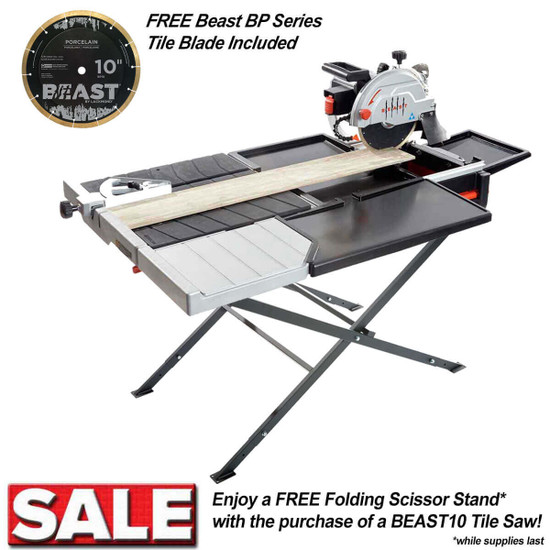 Lackmond 10 Tile Saw With Scissor Stand Contractors Direct