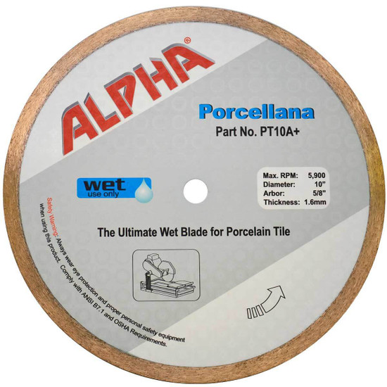 Alpha Porcellana Wet Diamond Blade