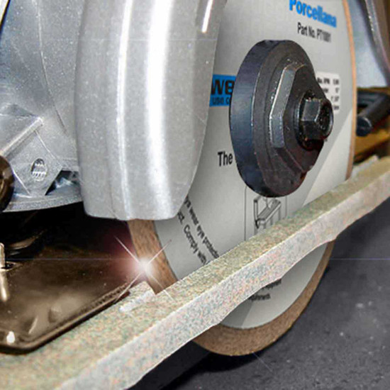 cutting with alpha porcellana diamond blade