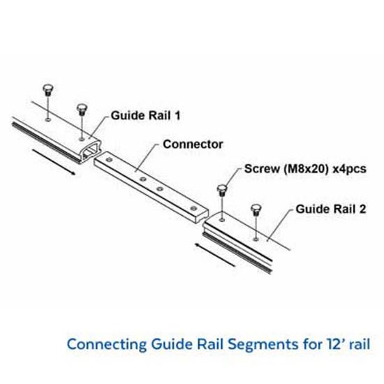 Alpha Tools ESC-125 Guide Rail Diagram