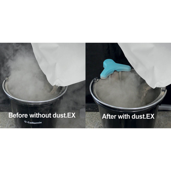 Collomix dust.EX Dust Extraction Vacuum Attachment Designed to eliminate the amount of dust that can get in the air and be inhaled on the job site