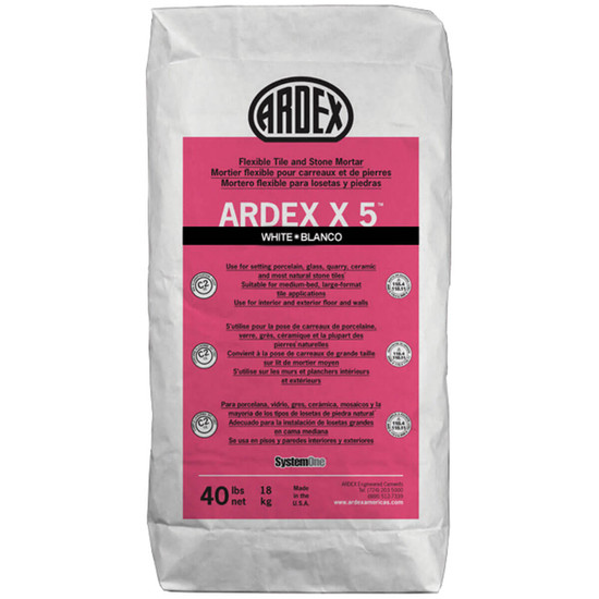 X5WHITE Ardex X5 Flexible mortar