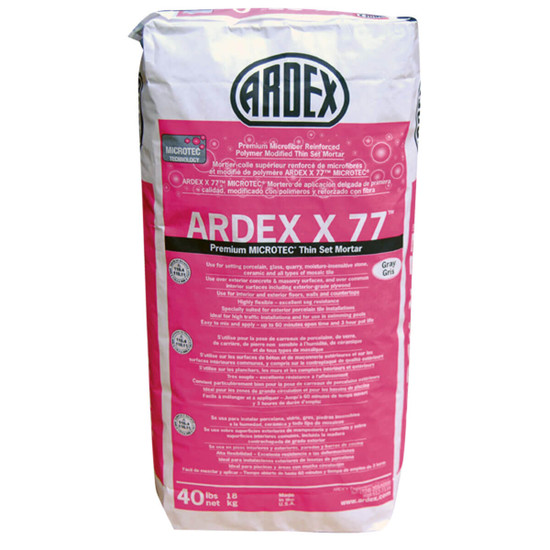 Ardex X77 MICROTEC Gray Tile and Stone Mortar