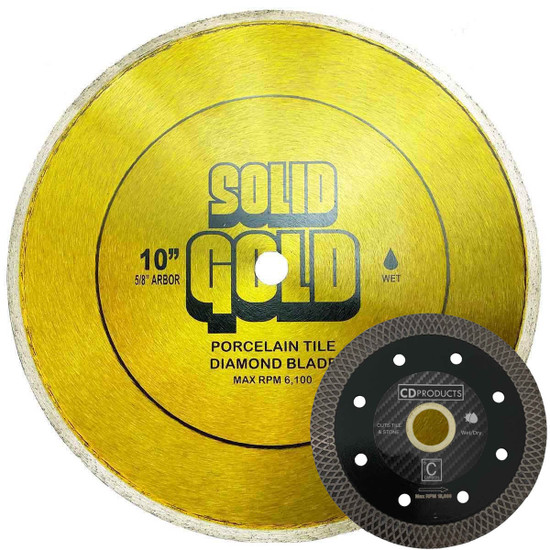 Solid Gold Diamond Blade with CF6 Mesh Blade