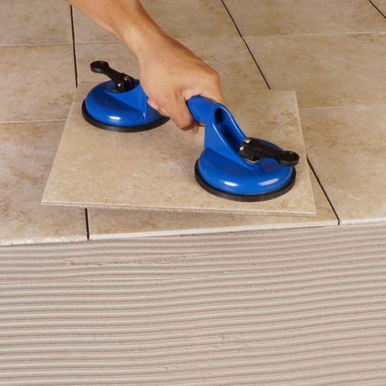 lifting smooth, non-porous tile, stone and cultured marble. non-marring suction cups capable of holding 88 pounds