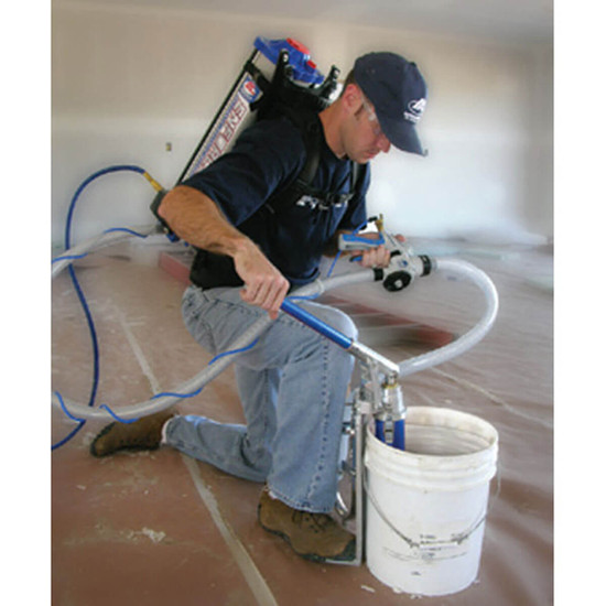 Filling the Enforcer Sprayer for Spraying Wall Textures