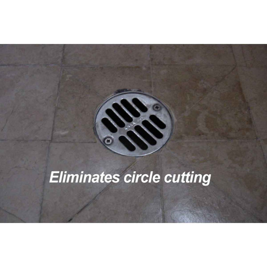 Troxell drain squares are designed to set up a tile pattern so the drain square can take the place of a 4 x 4 tile