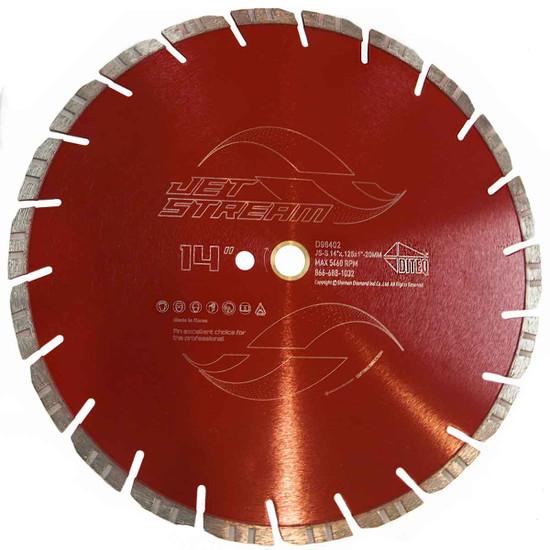 DITEQ JS-S 14 inch Jet Stream Concrete and Masonry Blade
