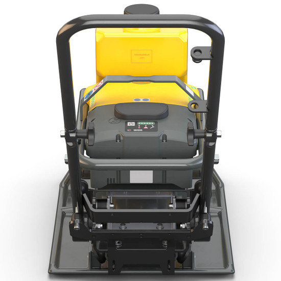 Wacker AP1850we 19.7 inch Battery Operated Plate Compactor. rear view
