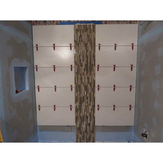 leveling system prevents tiles from warping after installation from unevenly cured thin-set
