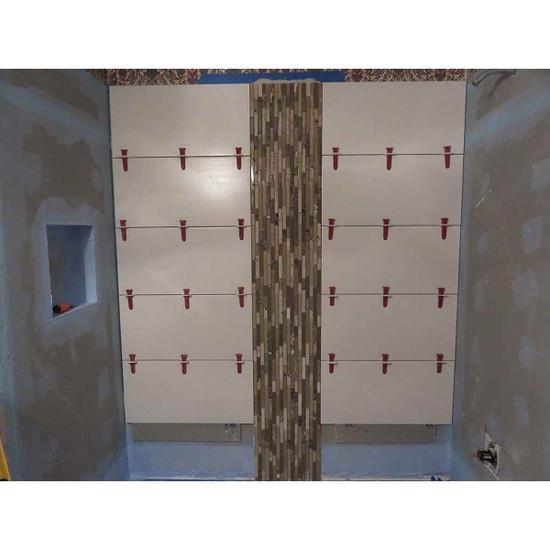 Perfect Level Master bathroom wall tile lippage free installation