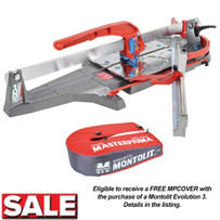 Montolit Masterpiuma Evolution 3 Tile Cutter with Protective Cover