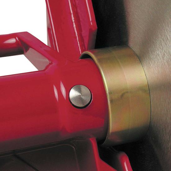 MK pro tile saw locking blade arbor