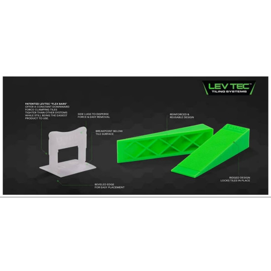 lippage free tiling projects every time LTCLIP116BLK