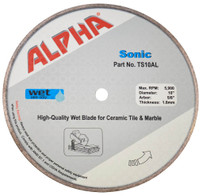 Alpha Sonic Diamond wet tile Blade
