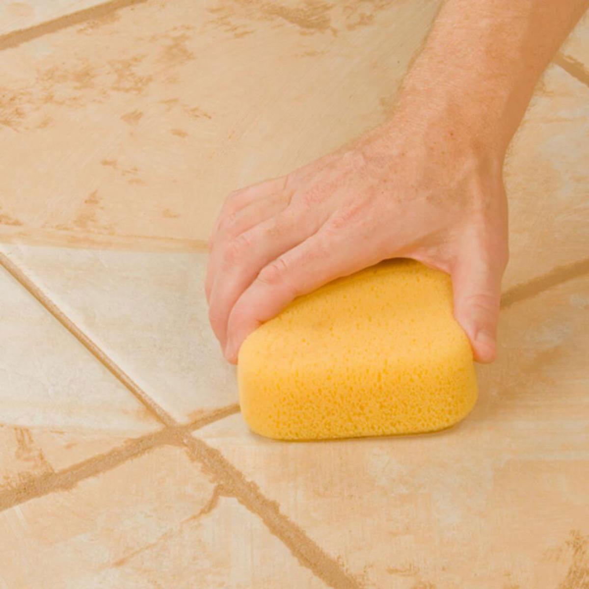Hydrophilic tile grout sponge