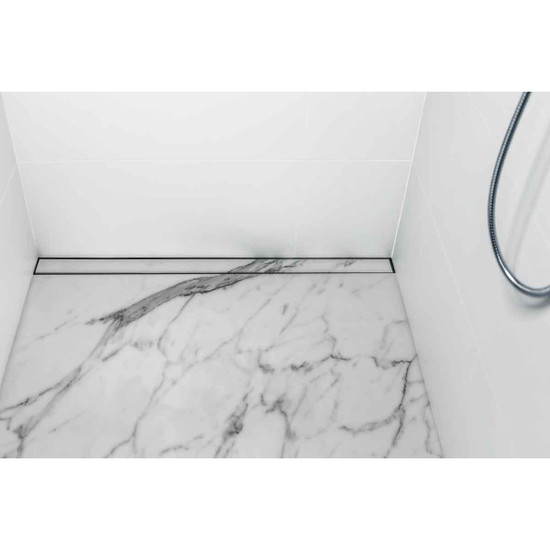 USG Marble Shower Linear Drain