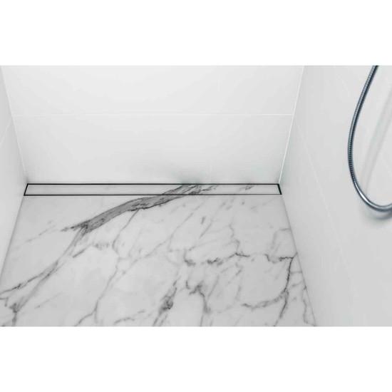 USG Marble Shower Linear Drain