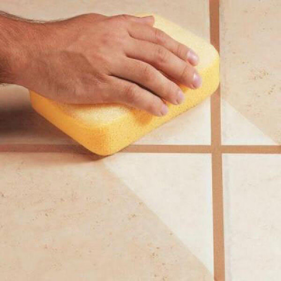 Hydra Scrubbing Sponge Cleans Grout