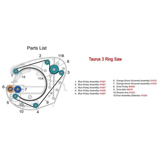 gemini taurus 3 parts list