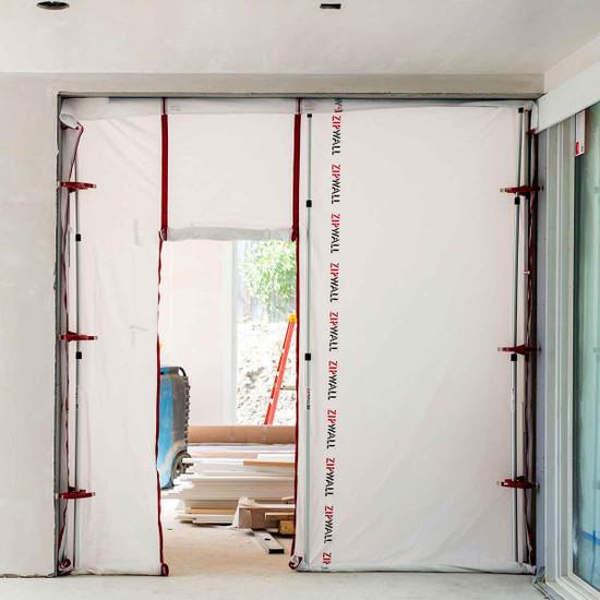 ZipWall Dust Barrier Panel with Zipper Door